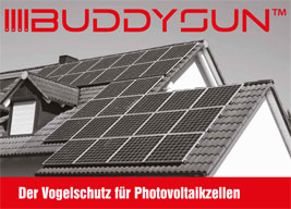 BUDDYSUN™-Bird Barrier for Solar and Photovoltaic Panels